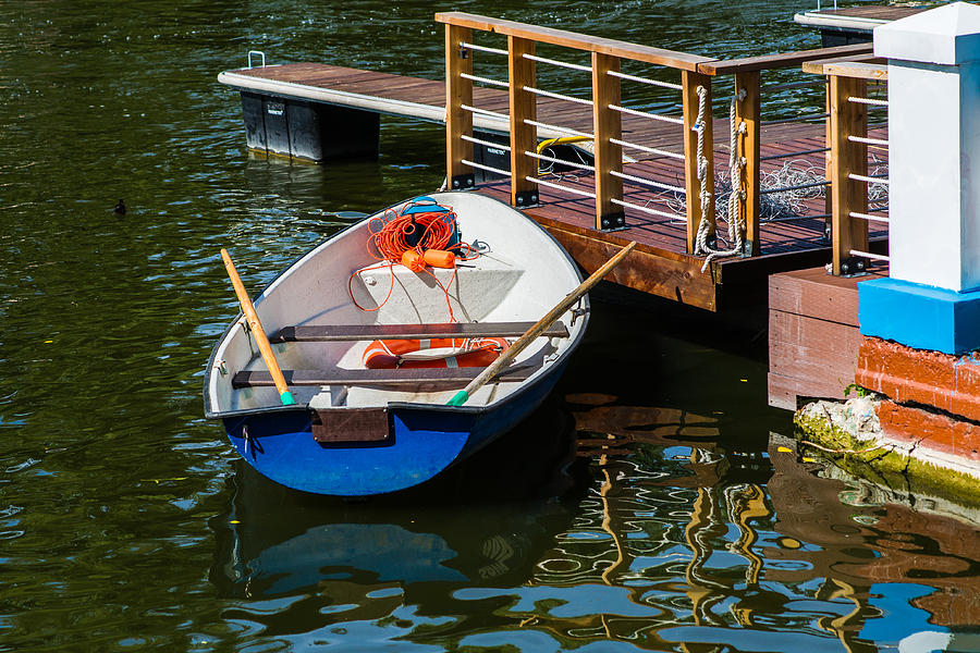 Blue Photograph - Lifeboat On Duty - Featured 3 by Alexander Senin