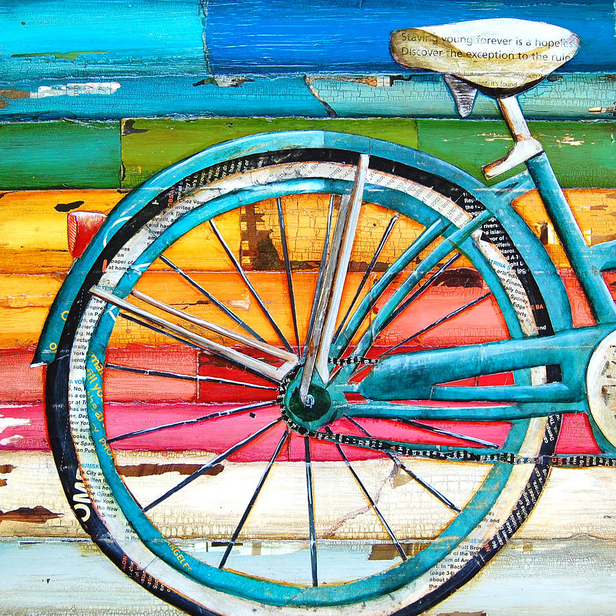 Bicycle Mixed Media - Lifecycles by Danny Phillips