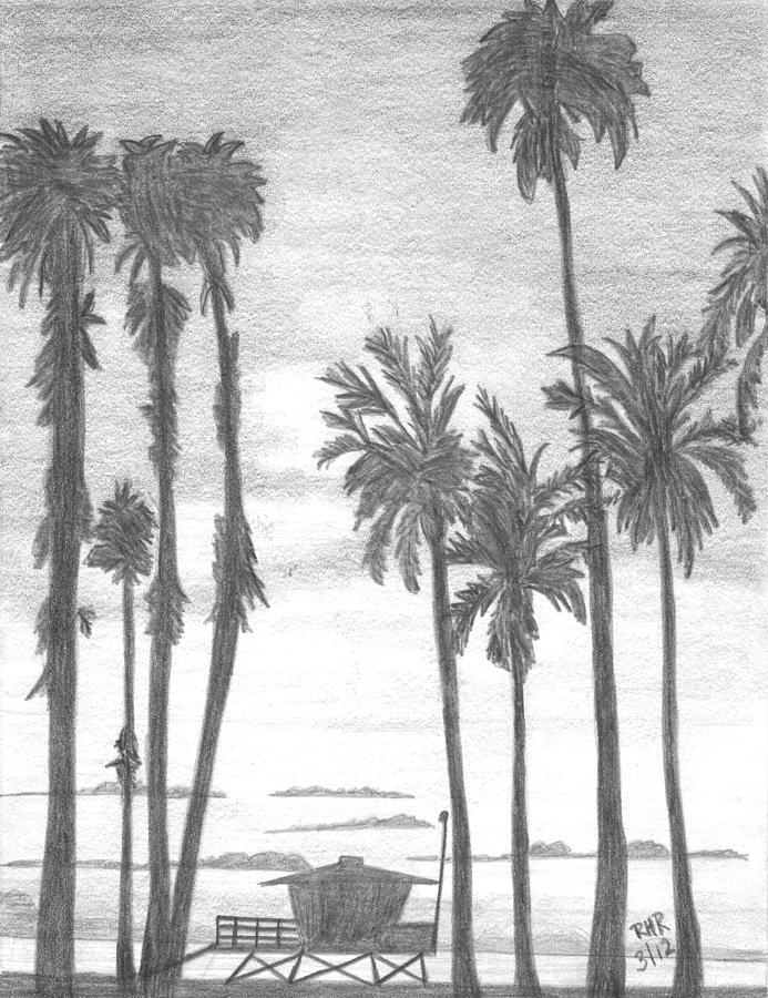 Landscape Drawing - Lifeguard 16 by Ray Ratzlaff