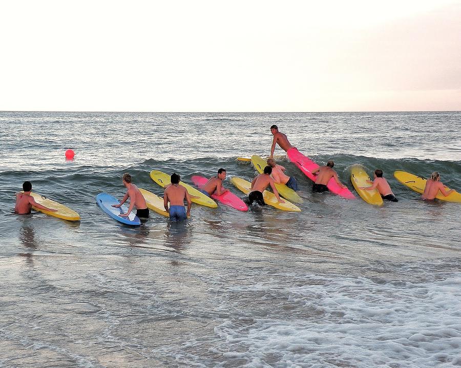 Lifeguards Photograph - Lifeguard Competition by Kim Bemis