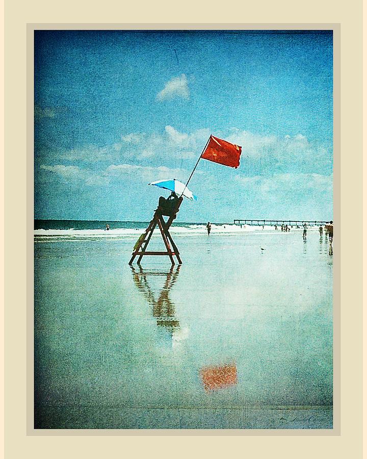 Dunes Photograph - Lifeguard Flag by Linda Olsen