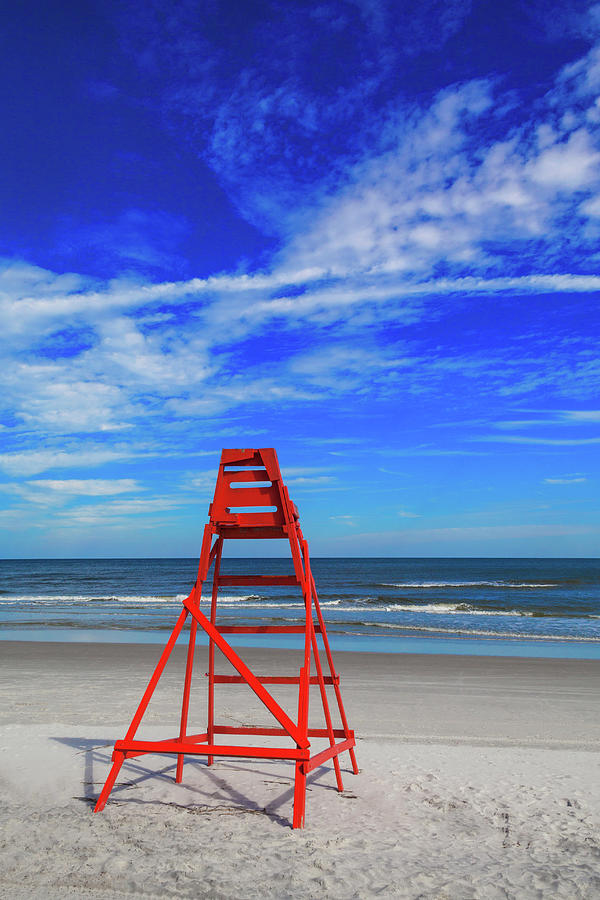 Lifeguard Station, Jacksonville  Beach Photograph by Diane Macdonald
