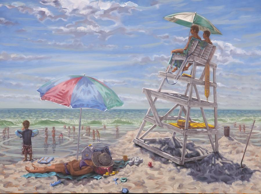 Lifeguards Painting by Gary M Long