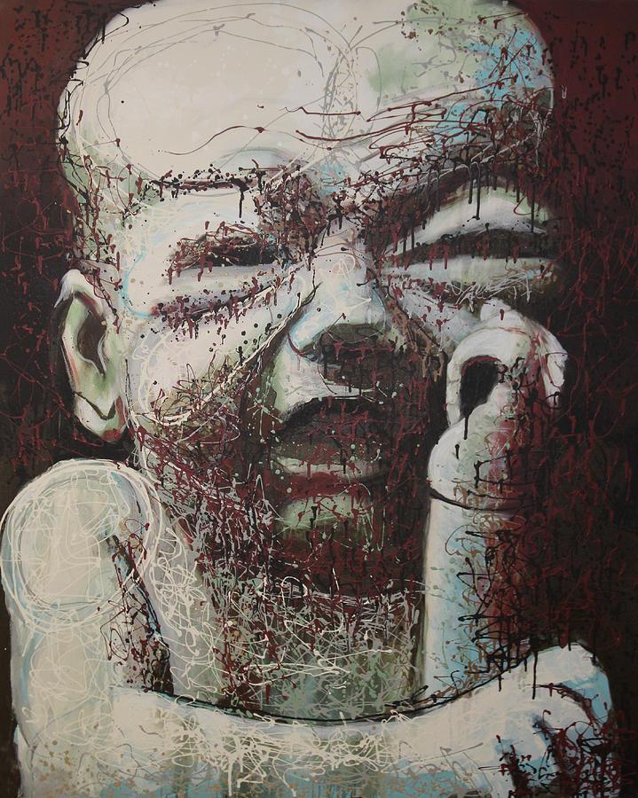 Kate Tesch Painting - Lifes Rough by Kate Tesch