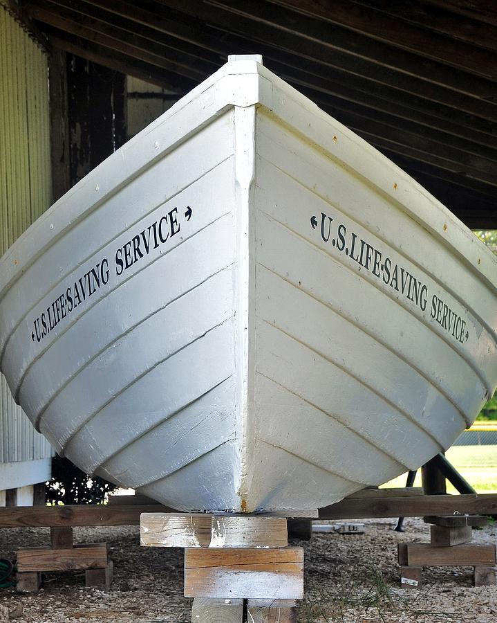 Lifesaving Photograph - Lifesaving Boat by Kim Bemis