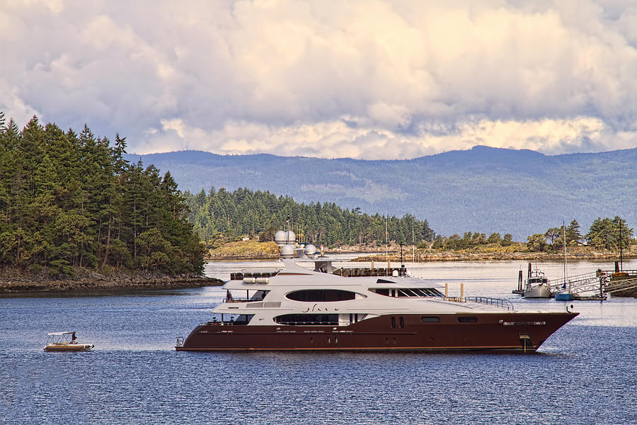 Yacht Photograph - Lifestyles Of The Rich And Famous by Peggy Collins