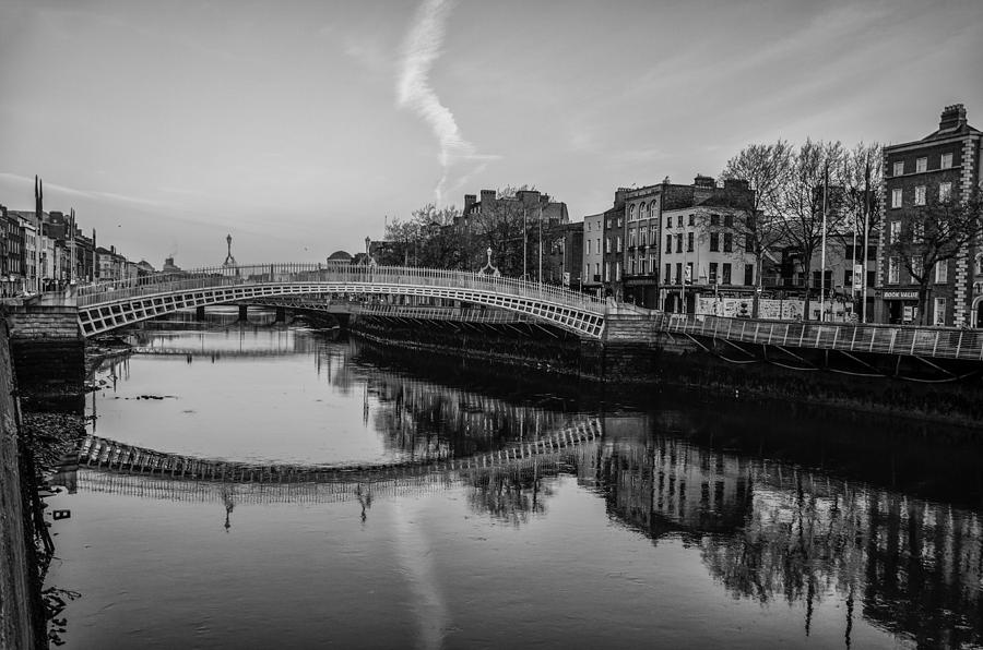 Liffey photograph liffey river dublin ireland in black and white by bill cannon