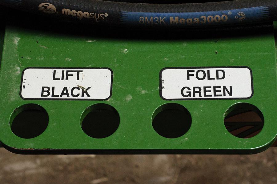 John Deere Photograph - Lift Black Fold Green by Christi Kraft