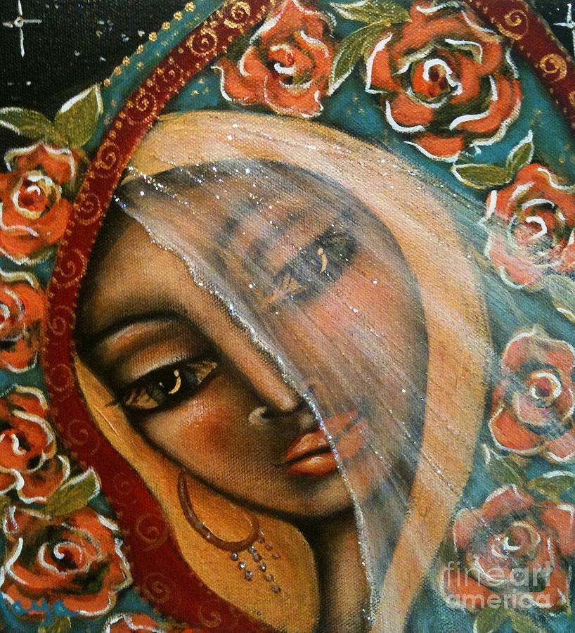 Contemporary Symbolism Painting - Lifting The Veil by Maya Telford