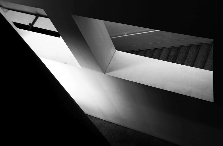 Bw Photograph - Light And Shadow Play by Fernando Alves