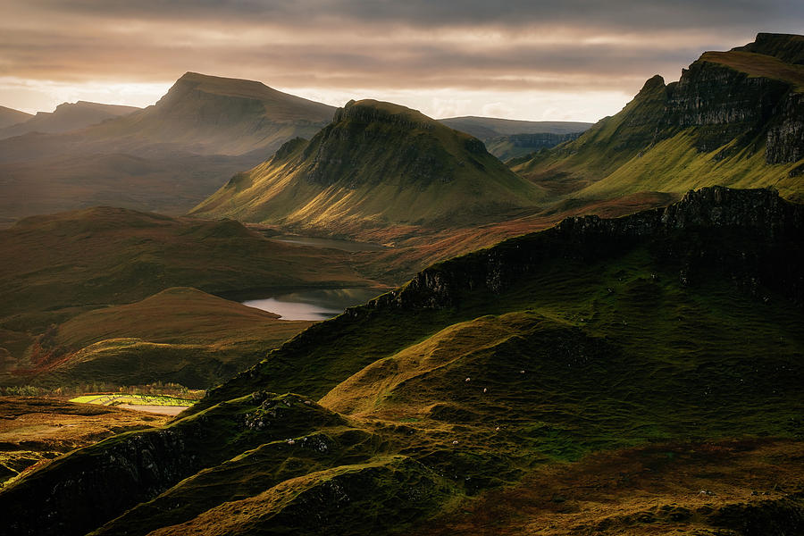 Quiraing Photograph - Light And Shadows by Adrian Popan