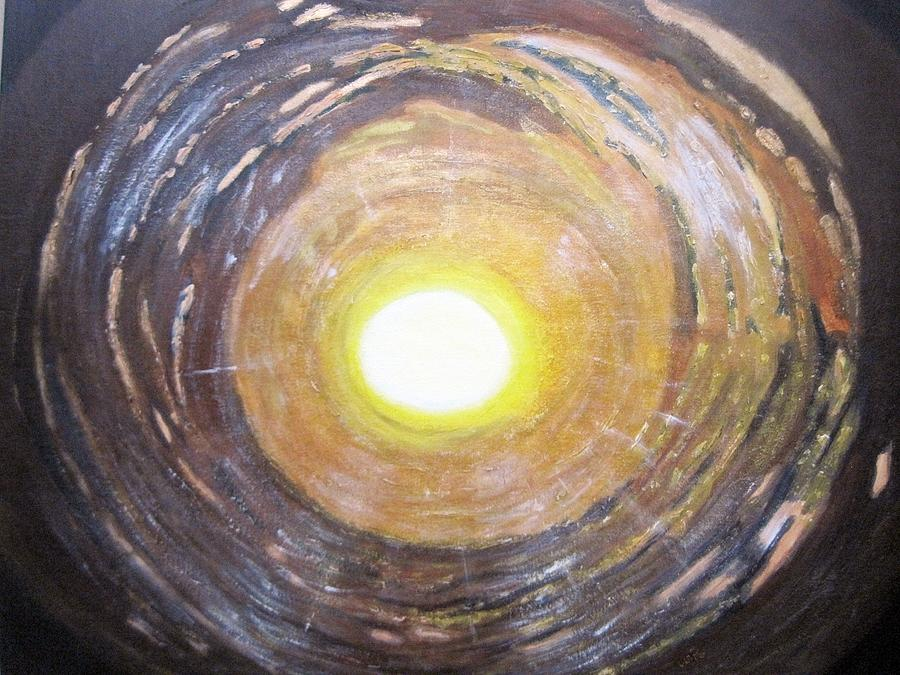 Tunnel Painting - Light At The End Of The Tunnel by Waheeda Ramnath