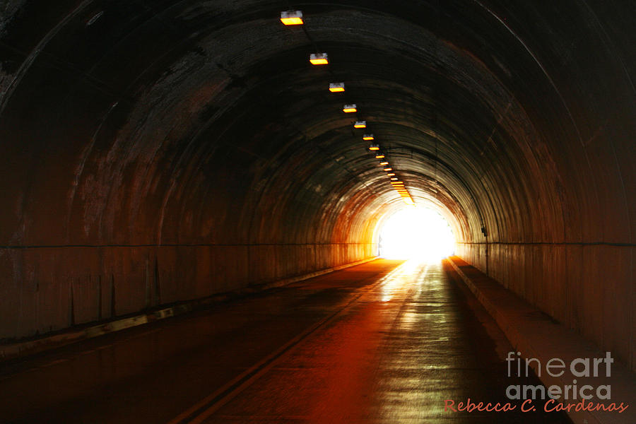 Road Photograph - Light At The End by Rebecca Christine Cardenas