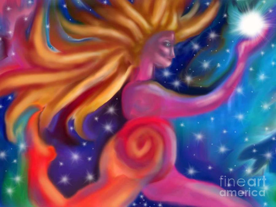 Shaman Painting - Light Bearer by Linda Marcille