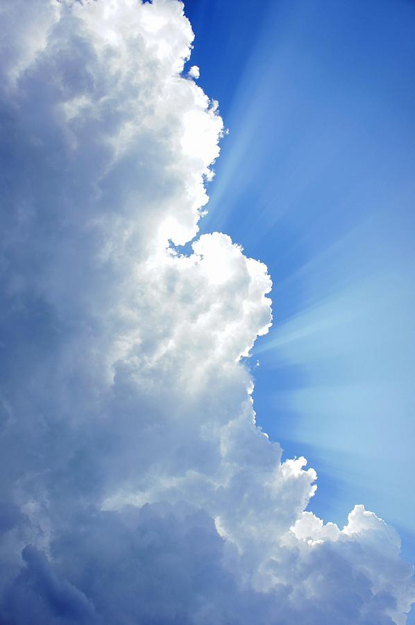 Sky Photograph - Light Behind The Clouds by Thomas Fouch