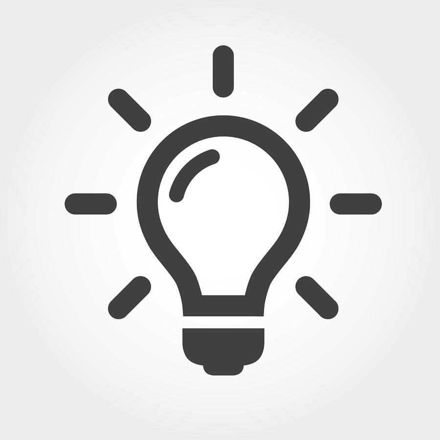 Light Bulb Icon - Iconic Series Drawing by -victor-