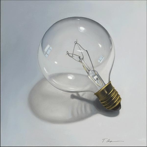 Still Life Painting - Light Bulb by Tina Blondell