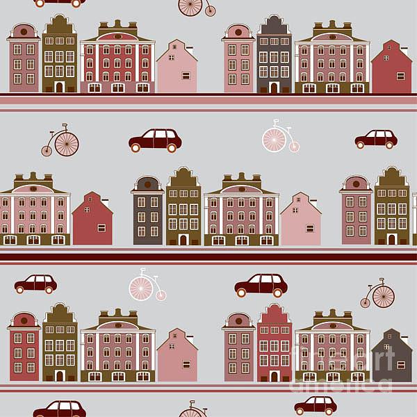 Stockholm Digital Art - Light City Pattern by Yuyula