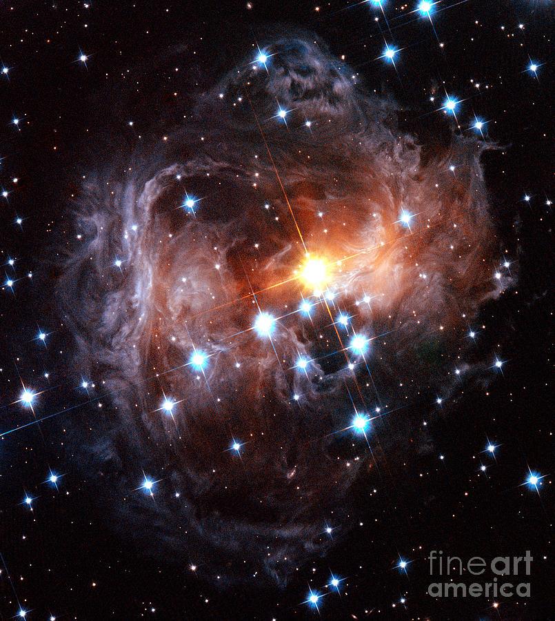 V838 Monocerotis Photograph - Light Echo Around Star V838 Monocerotis by Science Source