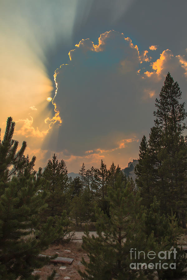 Cumulus Photograph - Light From Heaven by Robert Bales