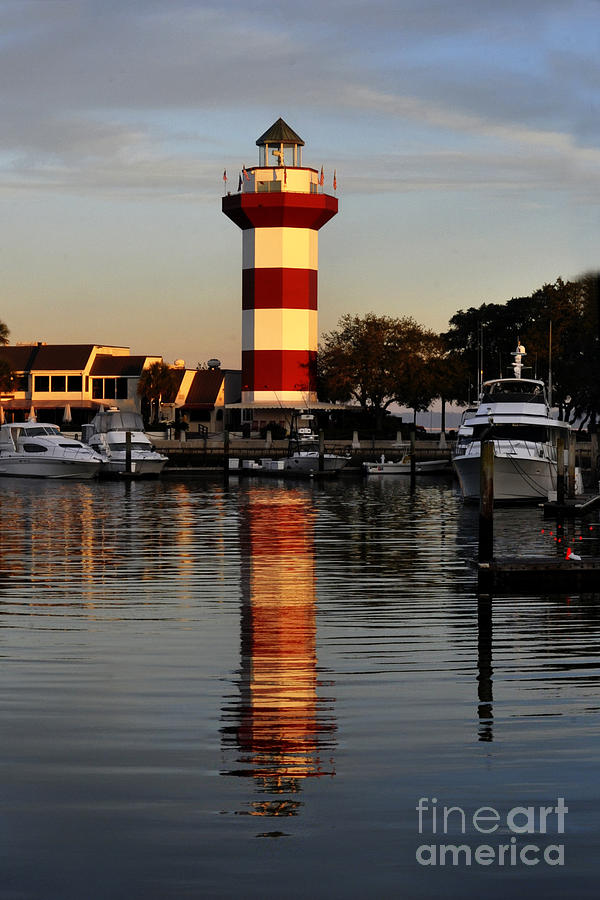 Light House Photograph - Light House At Harbour Town by Dan Friend