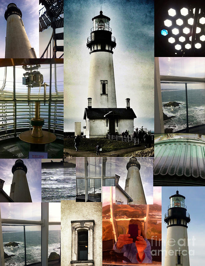 Photographs Photograph - Light House Collage by Susan Garren