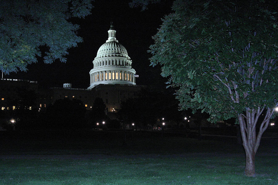 Us Capitol Photograph - Light In The Capitol by Frank Savarese