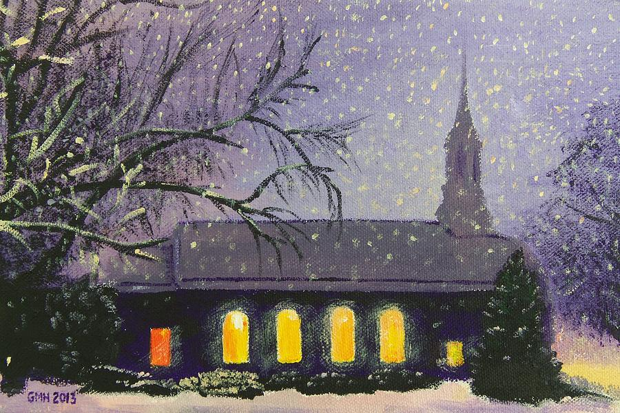 Church Painting - Light In The Darkness by Glenn Harden