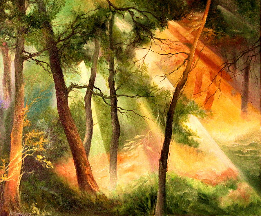 Superb Transparency Painting   Light In The Forest By Mikhail Savchenko Good Ideas