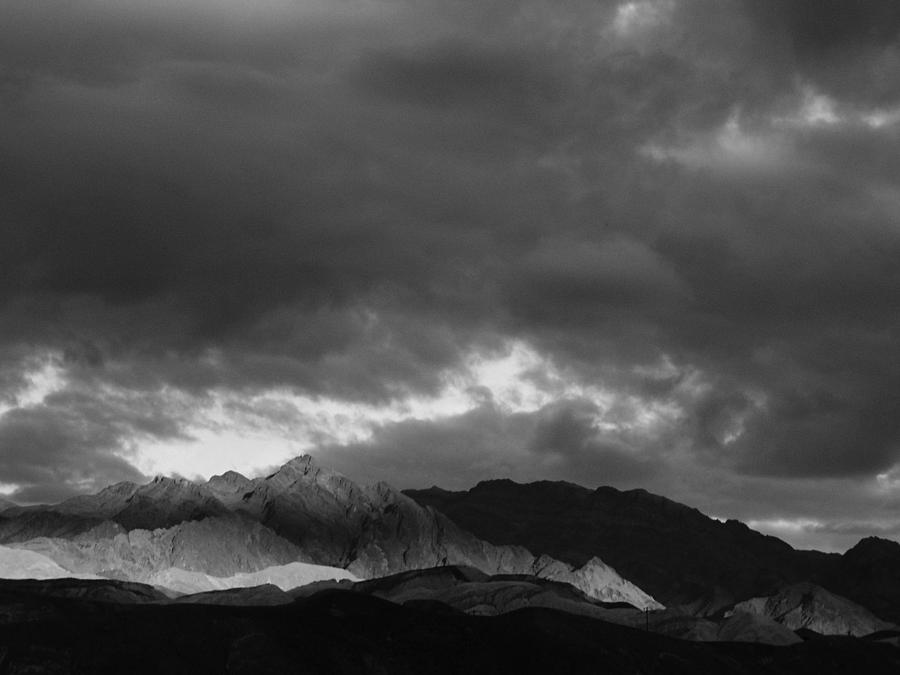 Black And White Photograph - Light In The Mountains by Jenny Fish