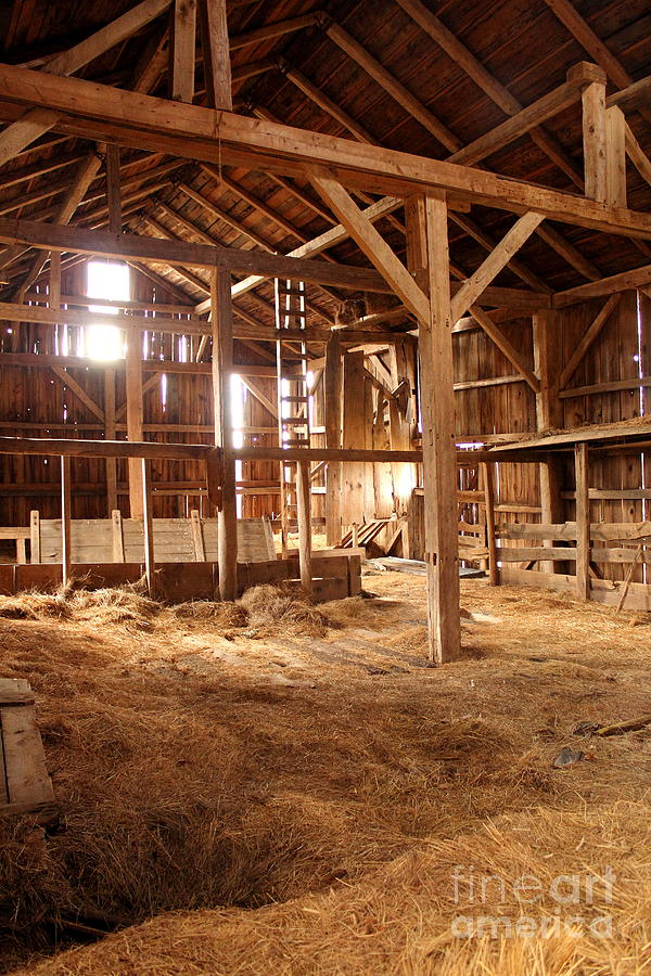 Light Inside An Old Barn Photograph By Christopher Jones