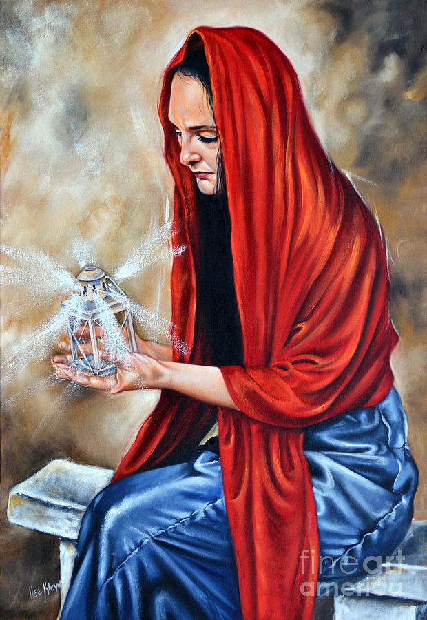 Woman Painting - Light My Candle by Ilse Kleyn