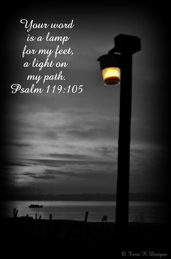 Lamppost Photograph - Light My Path by Terri K Designs