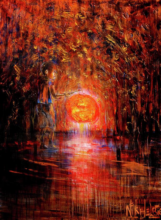 Lantern Painting - Light by Nik Helbig