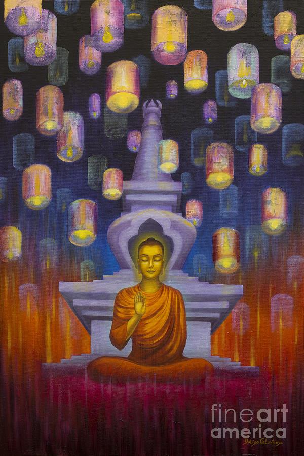 Buddha Painting - Light of Buddha by Yuliya Glavnaya