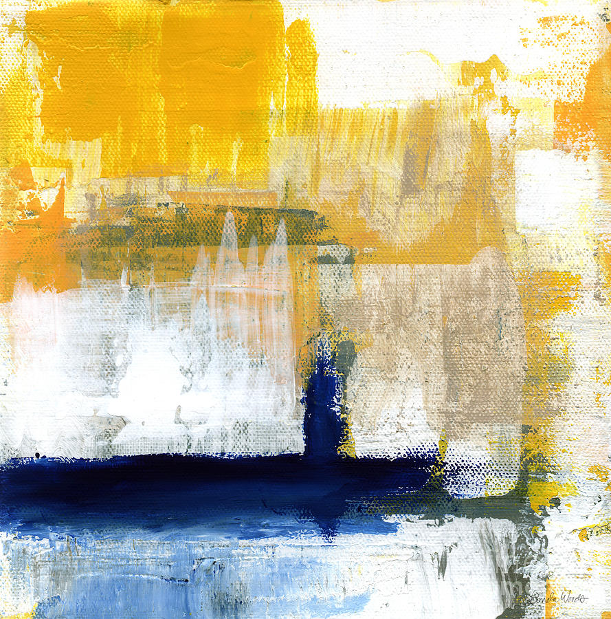 Abstract Painting - Light Of Day 4 by Linda Woods