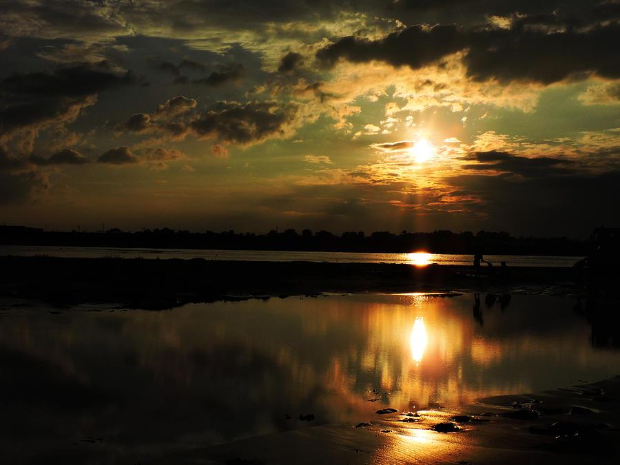 Sunset Photograph - Light Of The Evening by Ayan Mukherjee