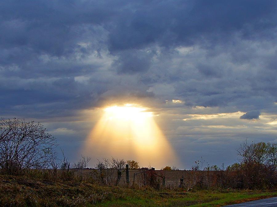 Landscape Photograph - Light Of The Heavens by Misty Dawn Seidel