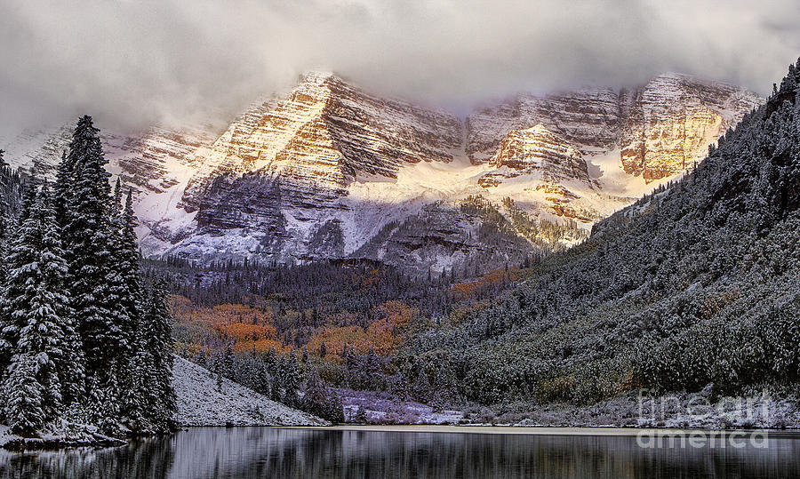 Colorado Photograph - Light On Maroon Bells by Jerry Fornarotto