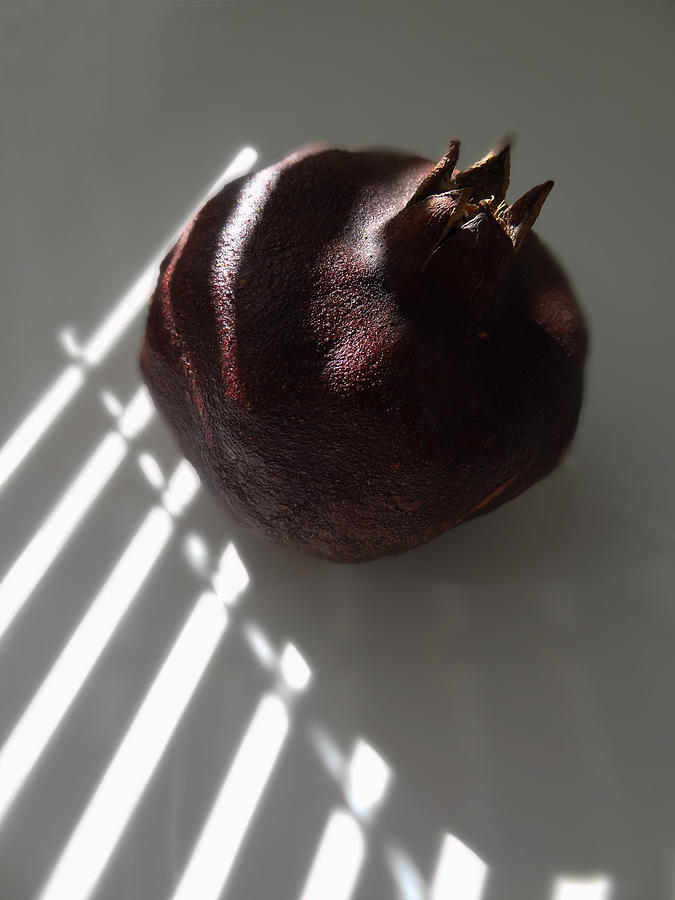 Pomegranate Photograph - Light On Pomegranate by Eileen Shahbazian