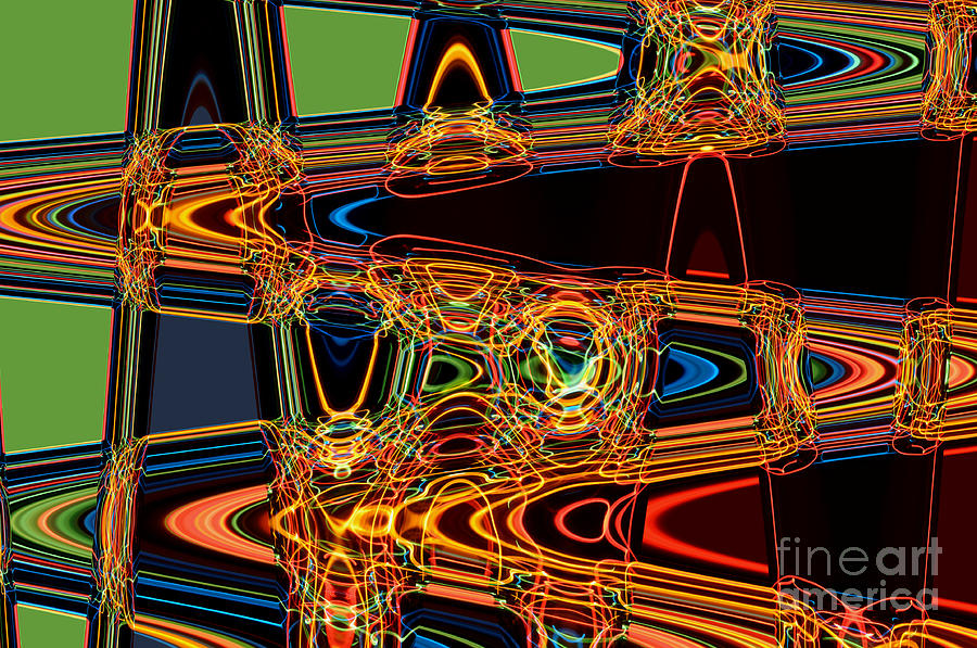 Abstract Digital Art - Light Painting 3 by Delphimages Photo Creations