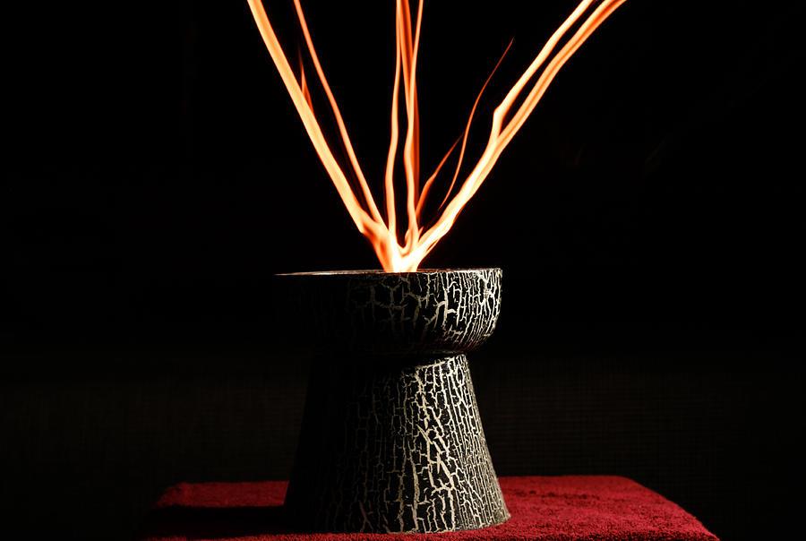 Fire Pyrography - Light Painting  by Nata  Ursu