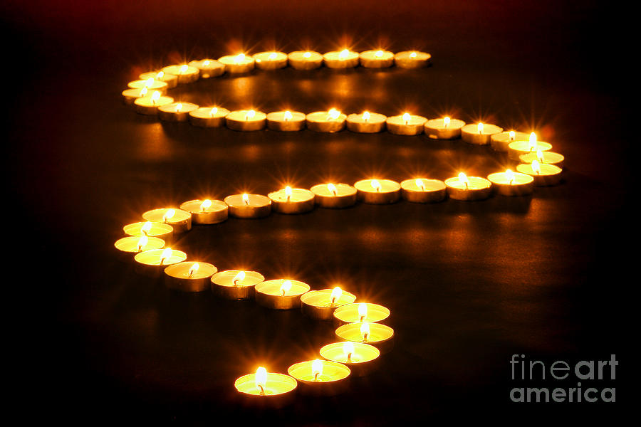 Candles Photograph - Light Path by Olivier Le Queinec