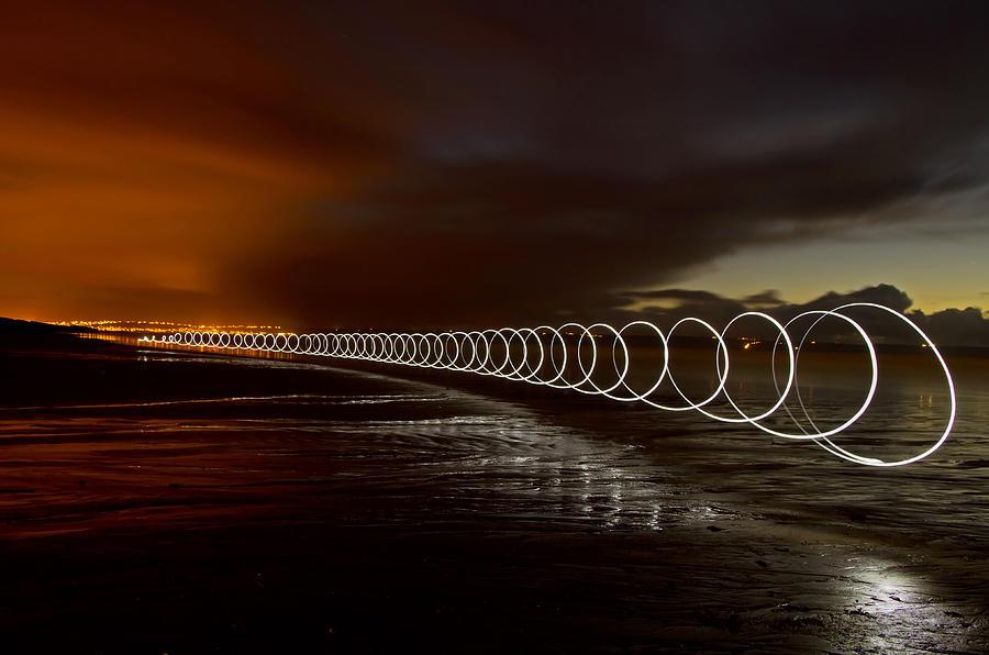 Saunton Sands Photograph - Light Play On Saunton Sands by Pete Hemington