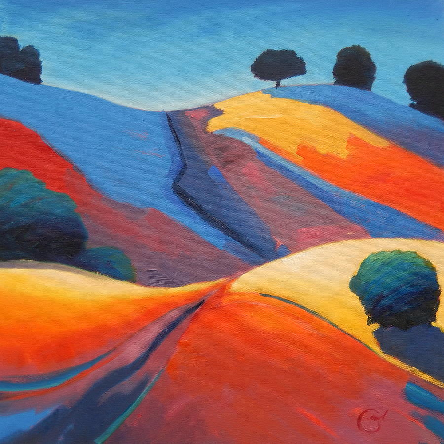 California Hills Painting - Light Show by Gary Coleman