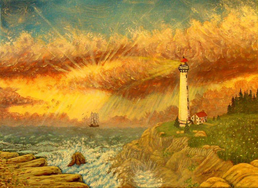 Light House Painting - Light That Guides Thee  by David Bentley