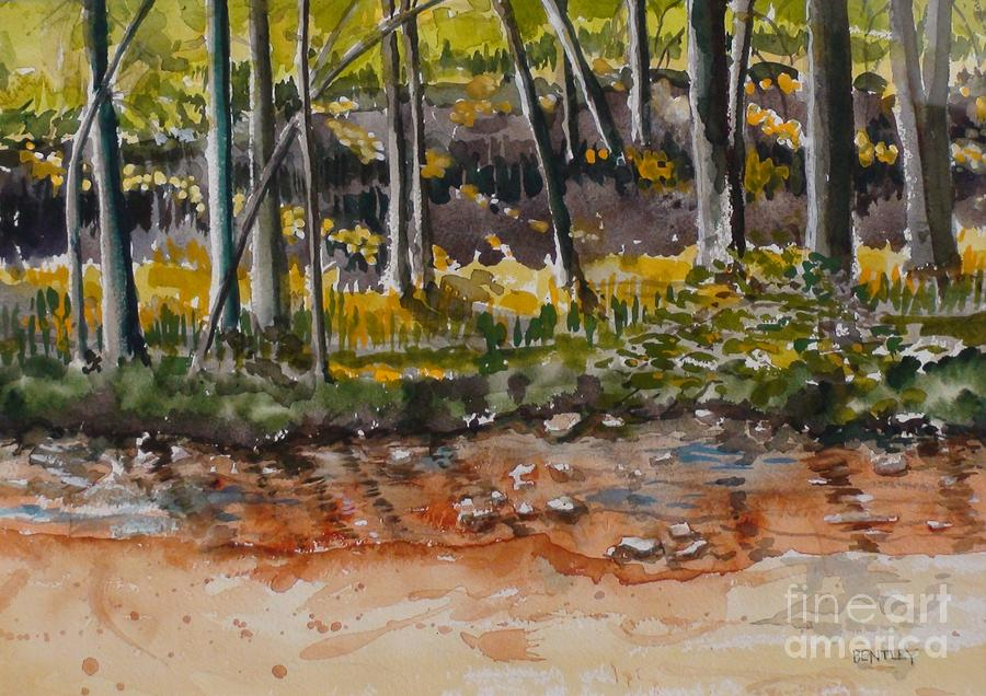 Woods Painting - Light Through The Woods by Adair Bentley
