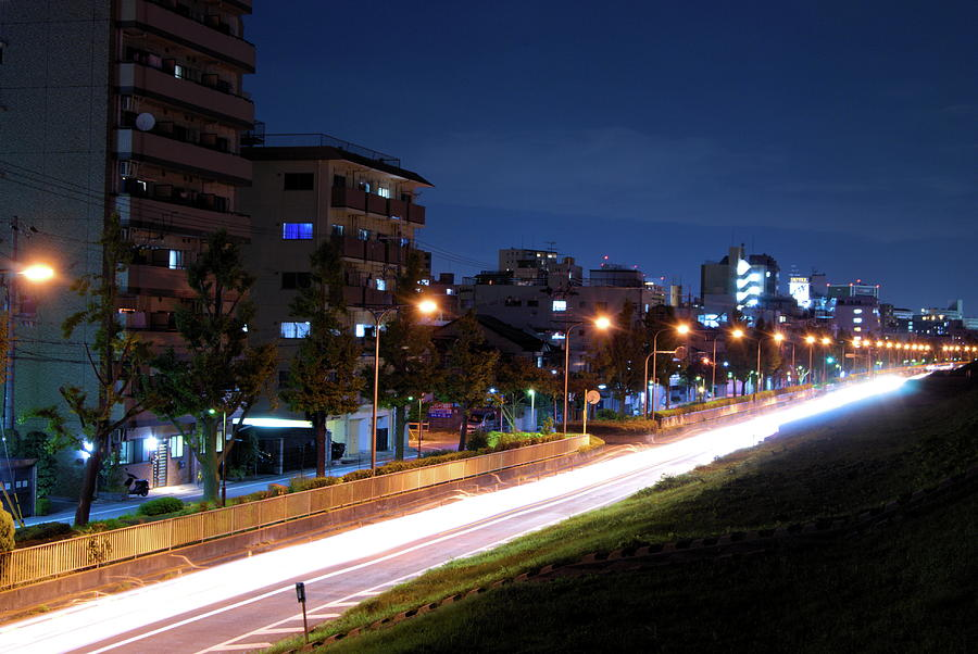 Light Trails Of Automobiles Photograph by Tatsuya Anonymous