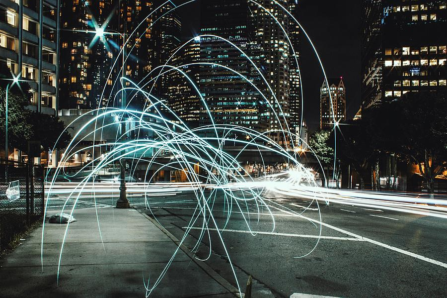 Light Trails On City Road At Night Photograph by Kevin Martinez / Eyeem