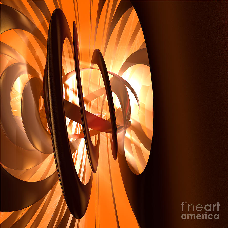 Abstract Digital Art - Light Transference by Peter R Nicholls